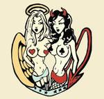angel is the devil print