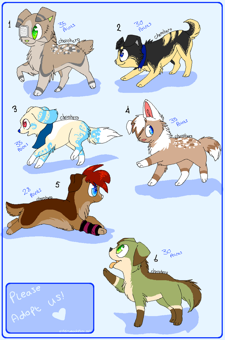 || Puppy adoptable batch2- Open || by HyperMuttAdoption