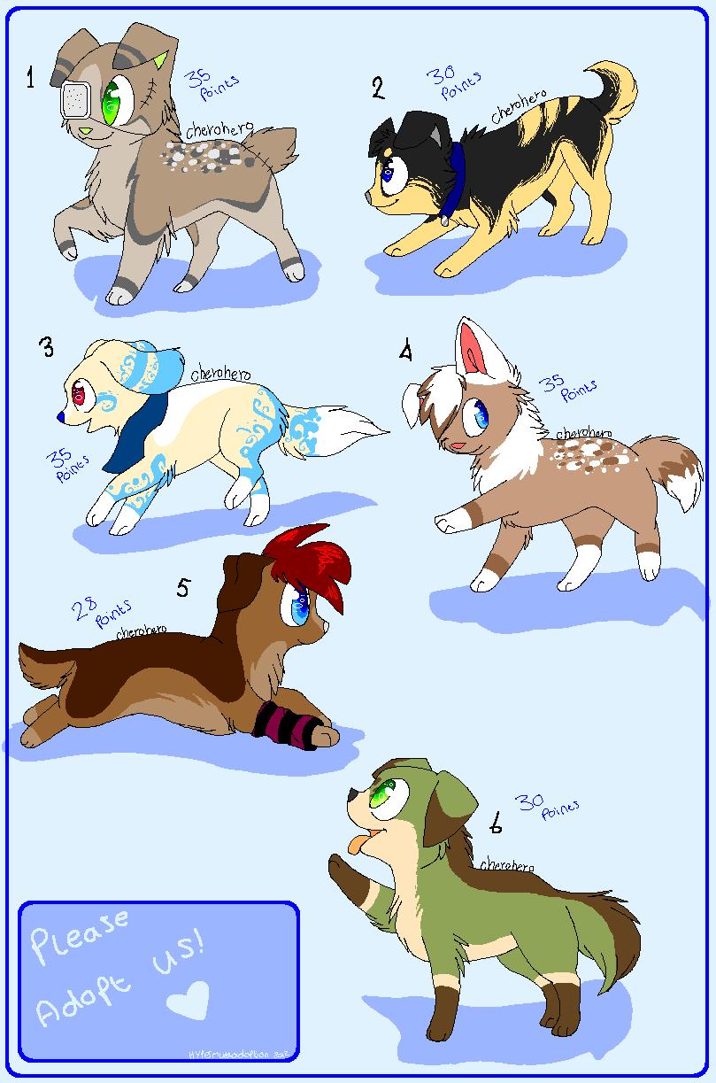 || Puppy adoptable batch2- Open || by HyperMuttAdoption