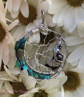 Lunar Howling Tree of Life Pendant *SOLD* by SerenityWireDesigns