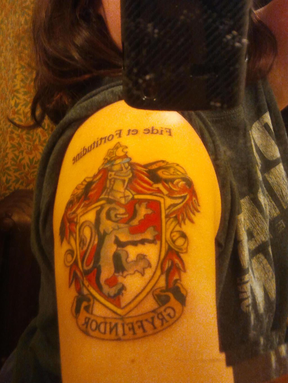 First Tattoo - Gryffindor by bai-xue88