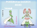 PKMN to Digimon Meme-Gardevoir