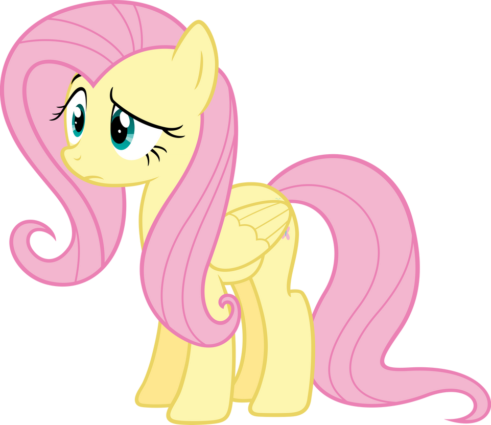 Fluttershy doubtful by Myardius