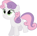 Sweetie Belle looking up