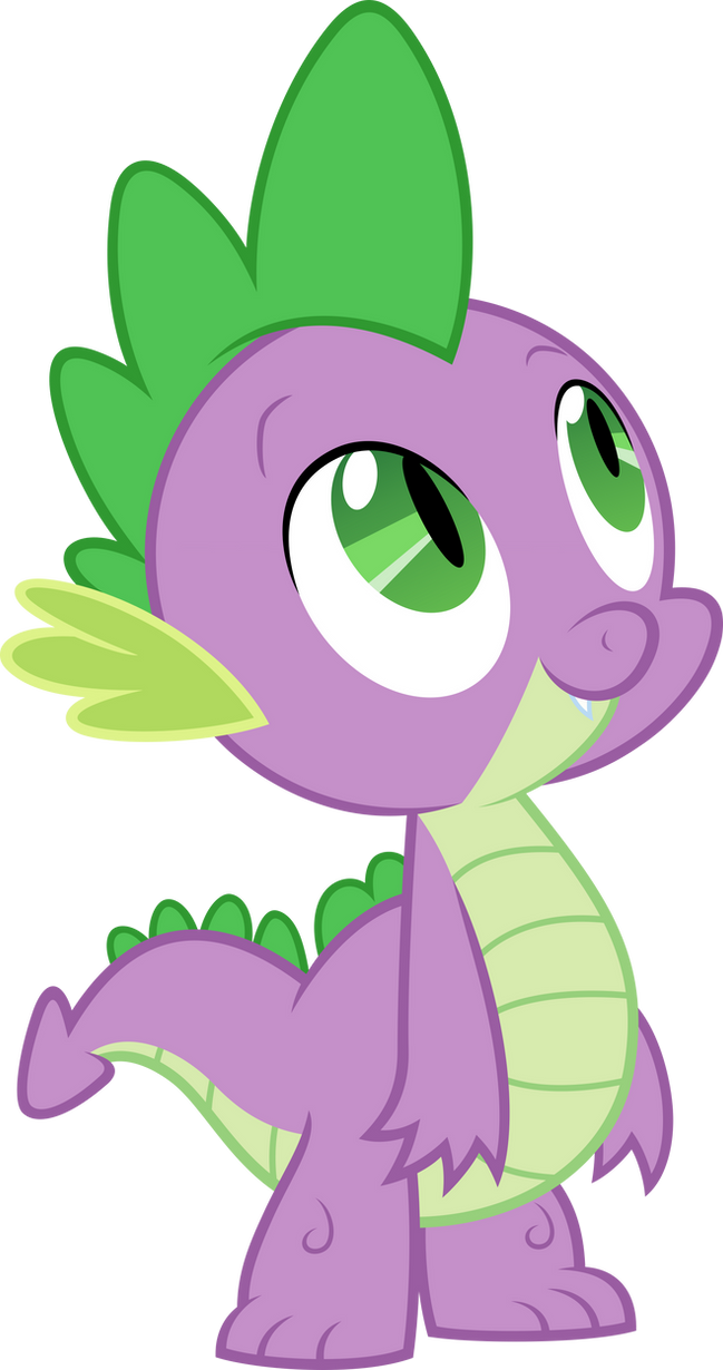 My little pony: Friendship is magic Spike_looking_up_by_myardius-d5egok3