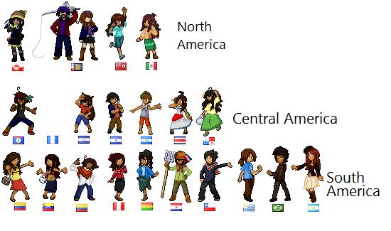 APH OC sprites (Americas) by poi-rozen