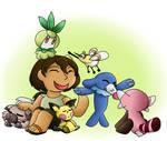 [Pokemon] Aloe's drawn pokemon team