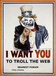 I want you to troll the Web
