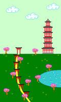 Japanese landscape in pixel art by Dixbit
