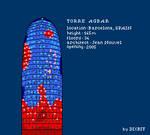 Torre Agbar in pixel art