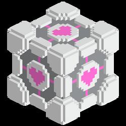 Voxel Companion Cube by Dixbit