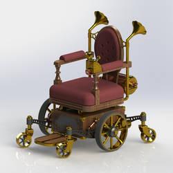 Steampunk Wheelchair (front) by Dixbit