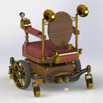 Steampunk Wheelchair Back