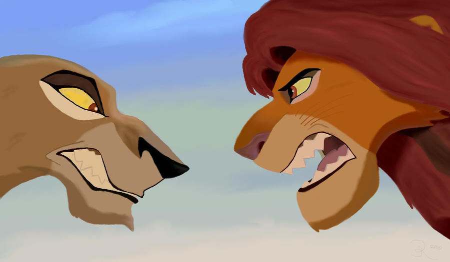 La tierra de simba, recuerdos Zira_and_Simba_by_Rapse11