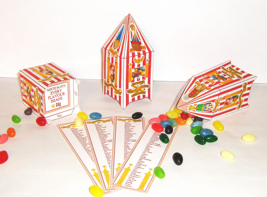 Bertie Bott\'s Bean Box - With labels by Gaddia on DeviantArt
