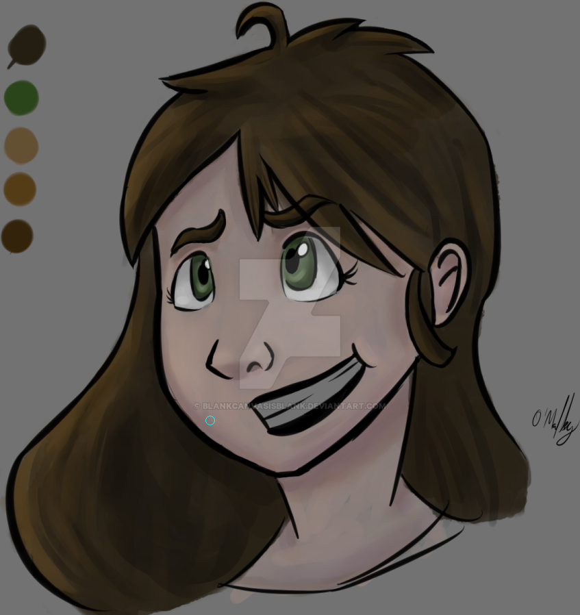 A girl named Abigail (Colored) by BlankCanvasIsBlank