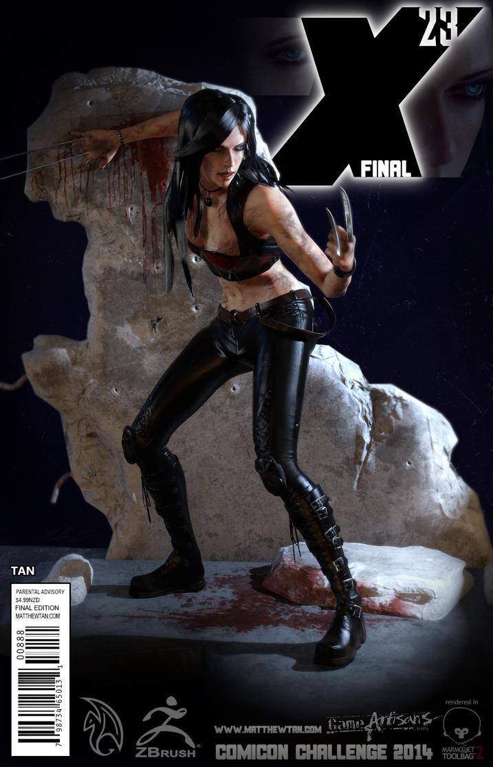 Comicon Challenge 2014 - Laura Kinney X23 Final by Lapislazulix