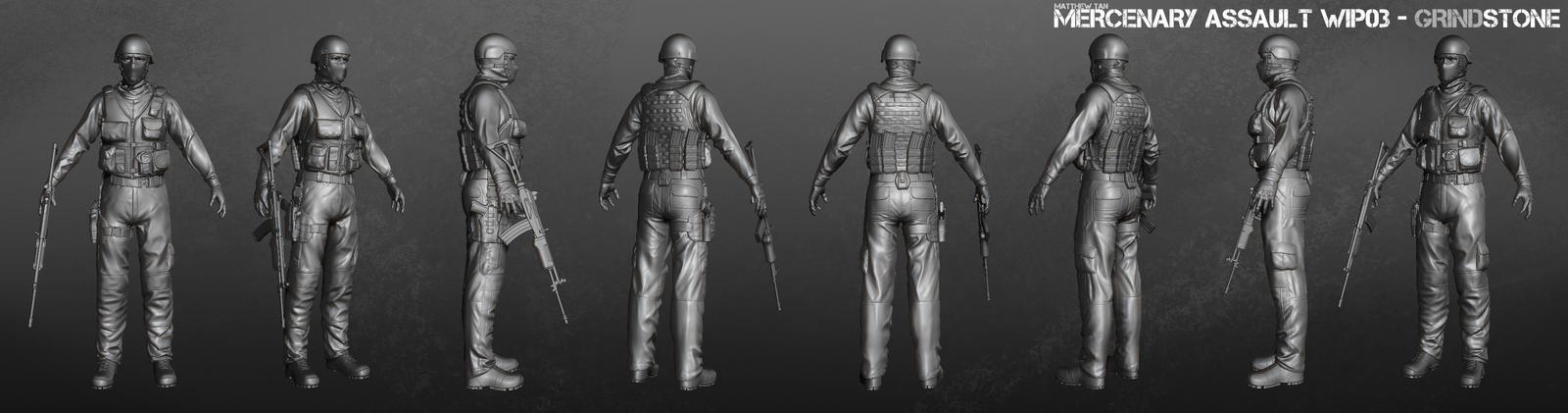 Mercenary Assault Grindstone by Lapislazulix