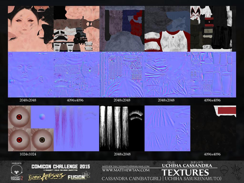 Uchiha Cassandra - Textures by Lapislazulix