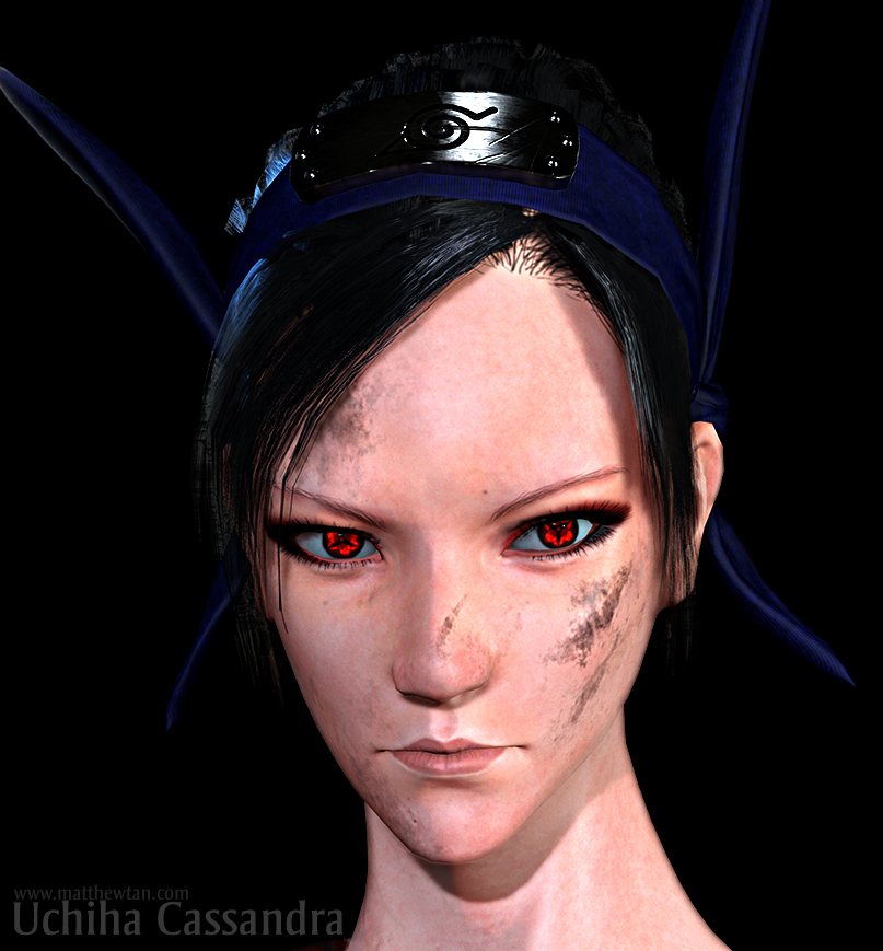 Uchiha Cassandra Face Close up by Lapislazulix