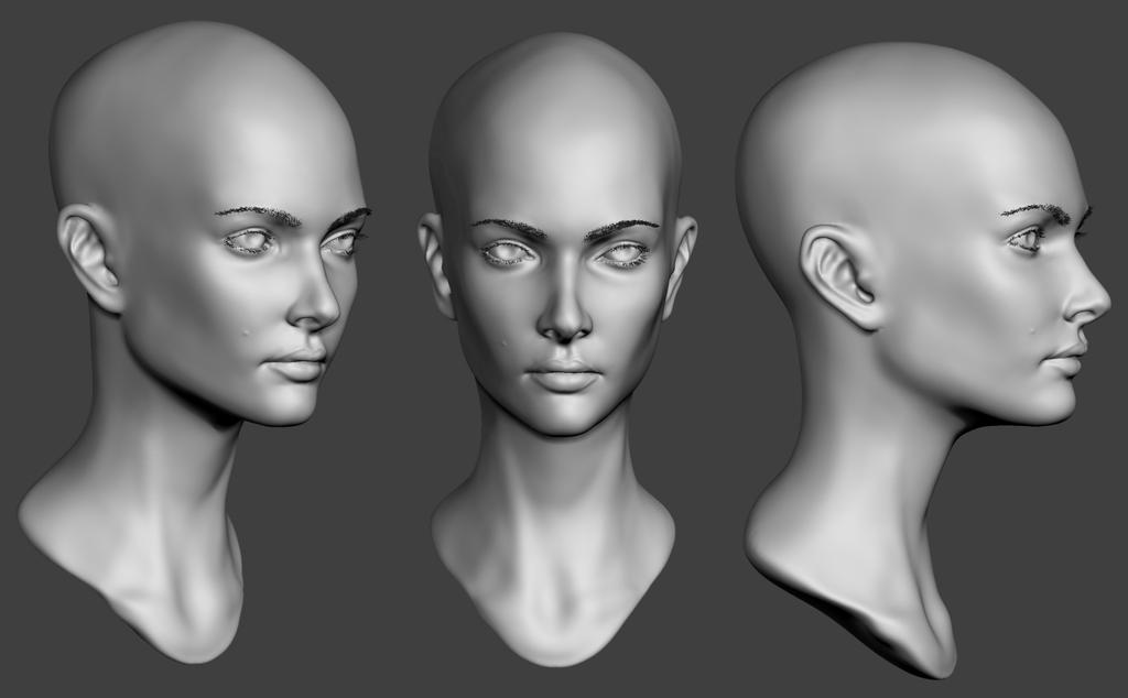 Female Head Practice 2 by Lapislazulix