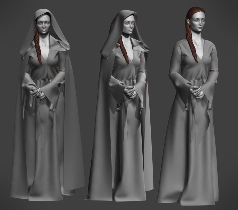 Sophie Turner (Sansa Stark) Fan art WIP 02 by Lapislazulix
