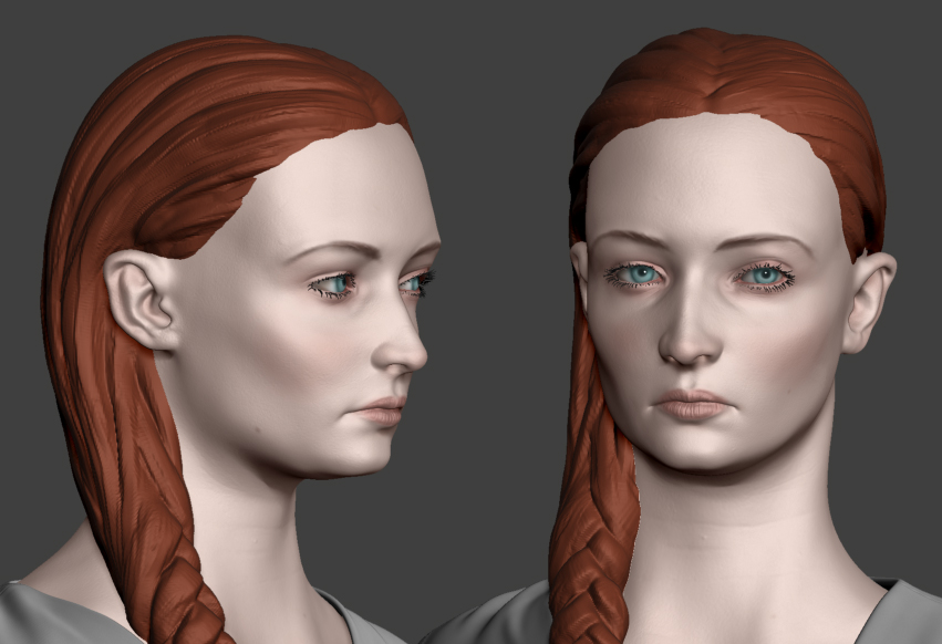 Sansa Stark WIP 05.1 by Lapislazulix