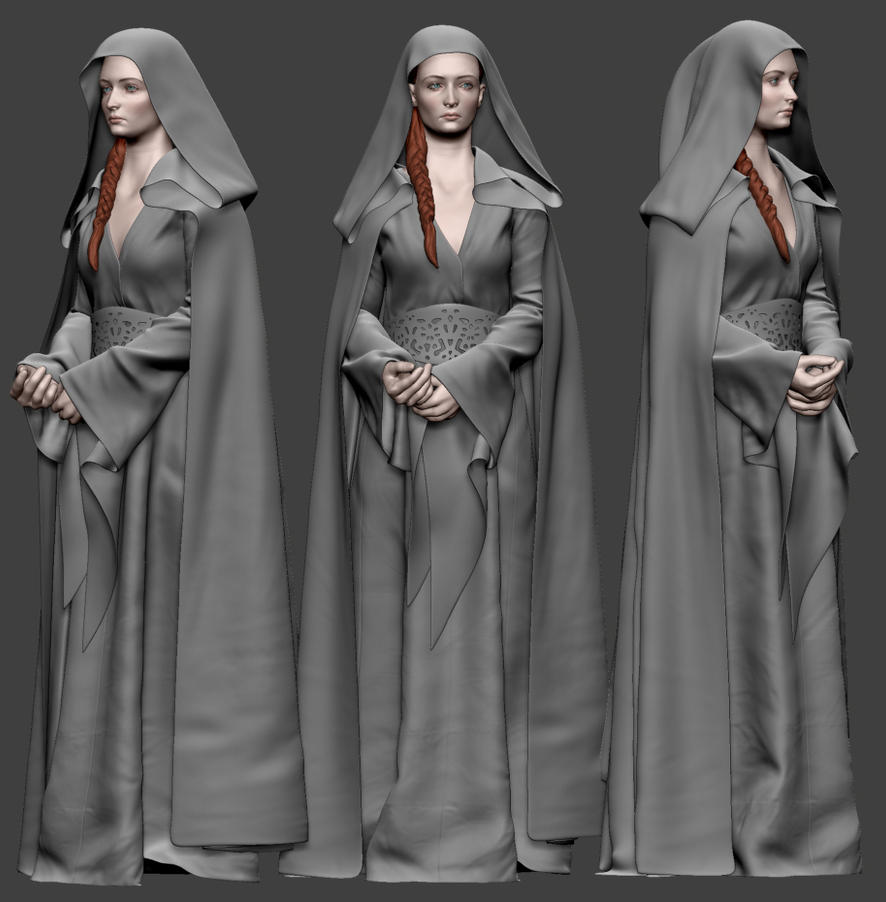 Sansa Stark WIP 05 by Lapislazulix
