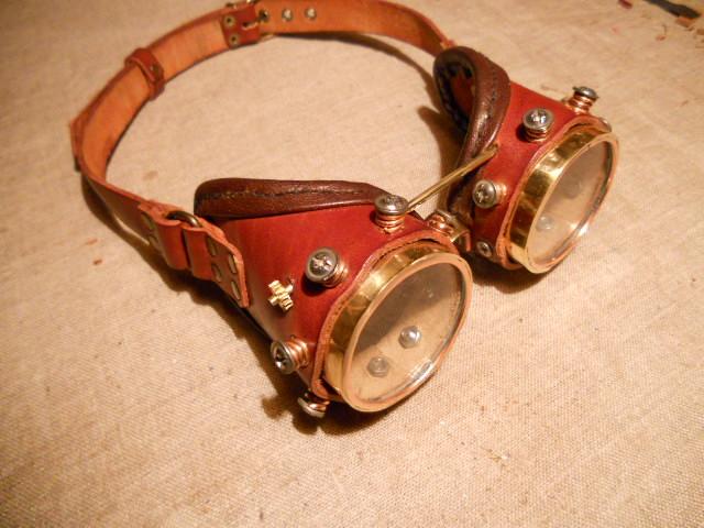 Latest steampunk goggles. by ChanceZero