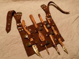 Steampunk cosplay tools by ChanceZero