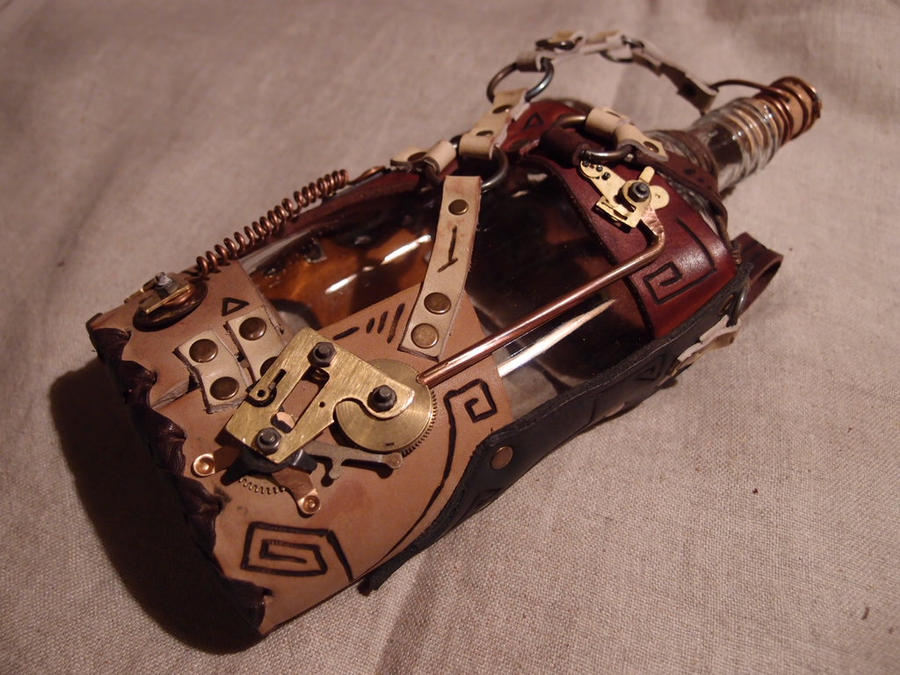A steampunk-abstract flask by ChanceZero