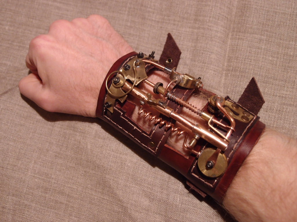 Steampunk bracelet by ChanceZero
