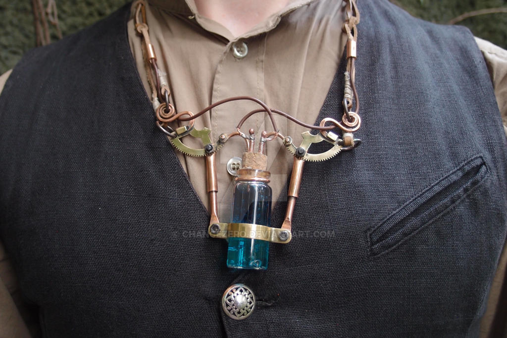 A new steampunk necklace by ChanceZero