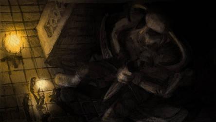 Statue Of a Rider (Huntersmoon Storyboard). by CareldeWinter