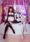 Chocola and Vanilla cosplay