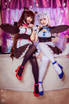 Chocola and Vanilla cosplay