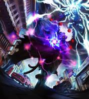 Oni Akuma vs Hulked out Thor by LooAwesome