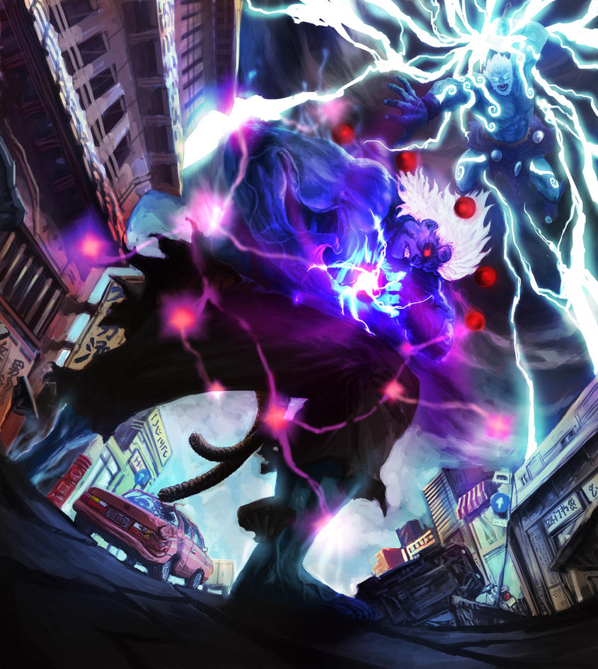 Oni akuma vs hulked out thor by looawesome on deviantart - Akuma oni wallpaper ...
