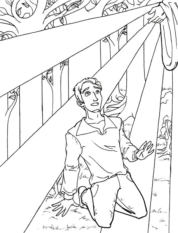 First vision commission by shahrezad1 on deviantart for Coloring page of the first vision