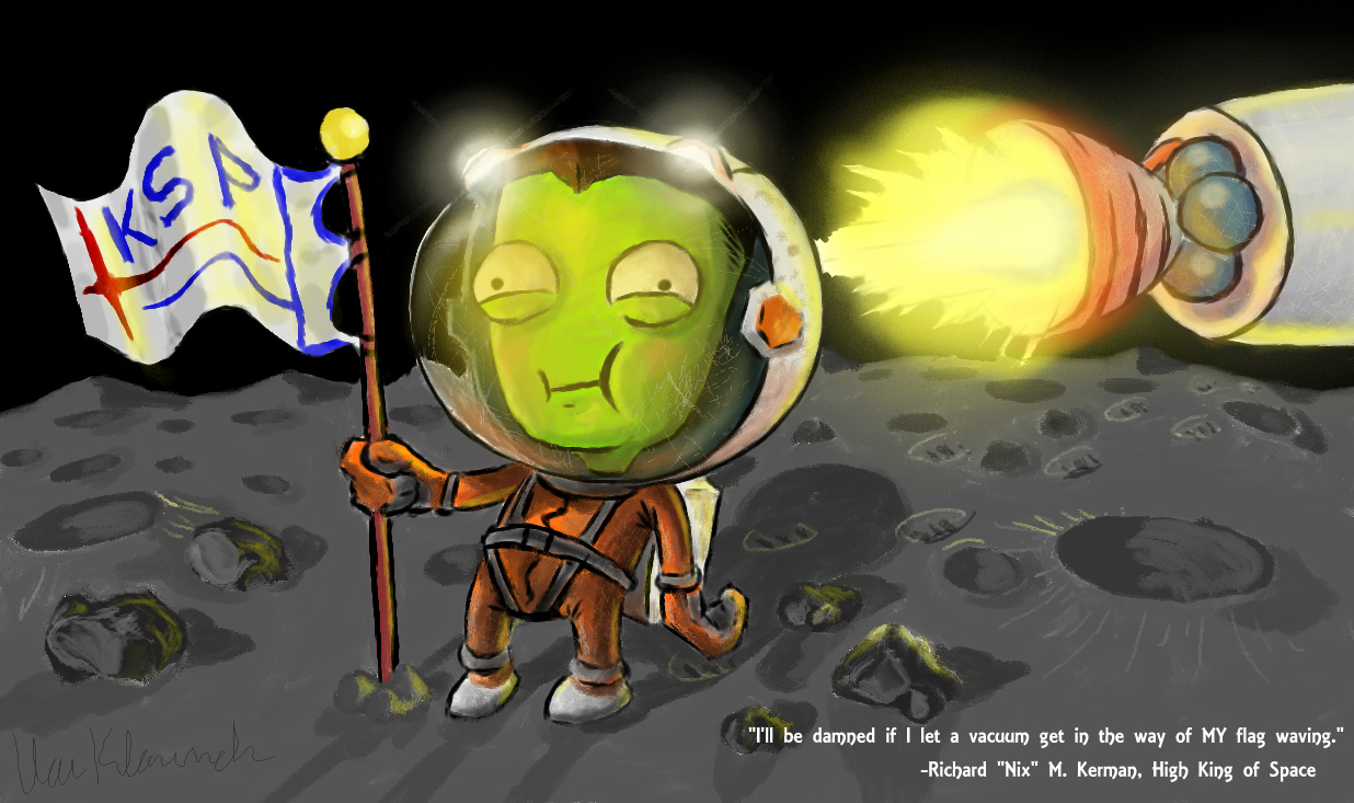 Kerbal Flag Waving by Van-Klaunch