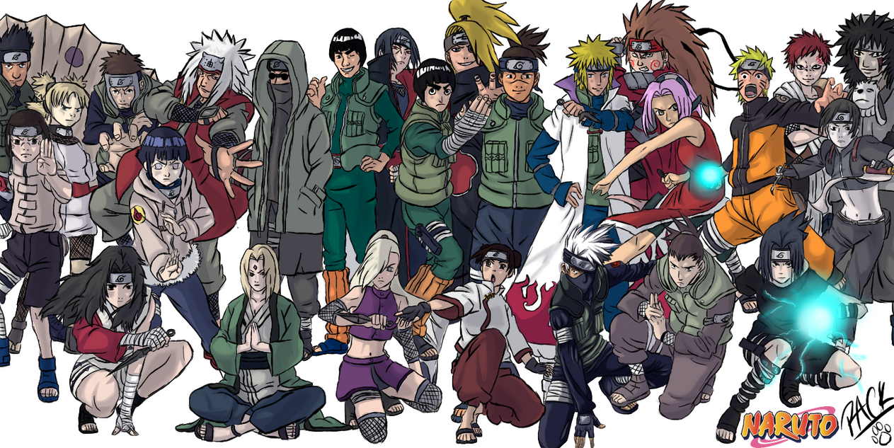 Some Naruto characters! by LightningandElectro on DeviantArt