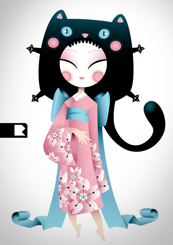 neko geisha by roccoloko