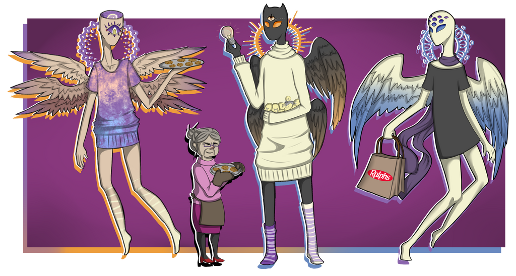 Nigh Vale angels by Siinys