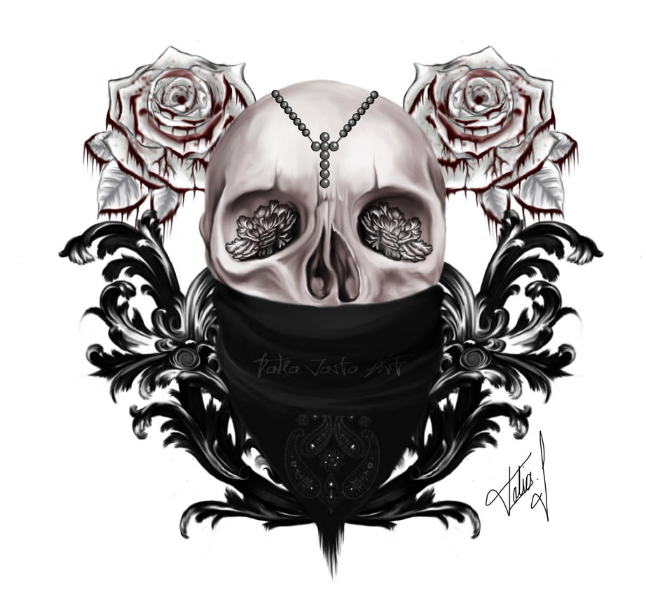 Tattoo skull by TaliaJasta