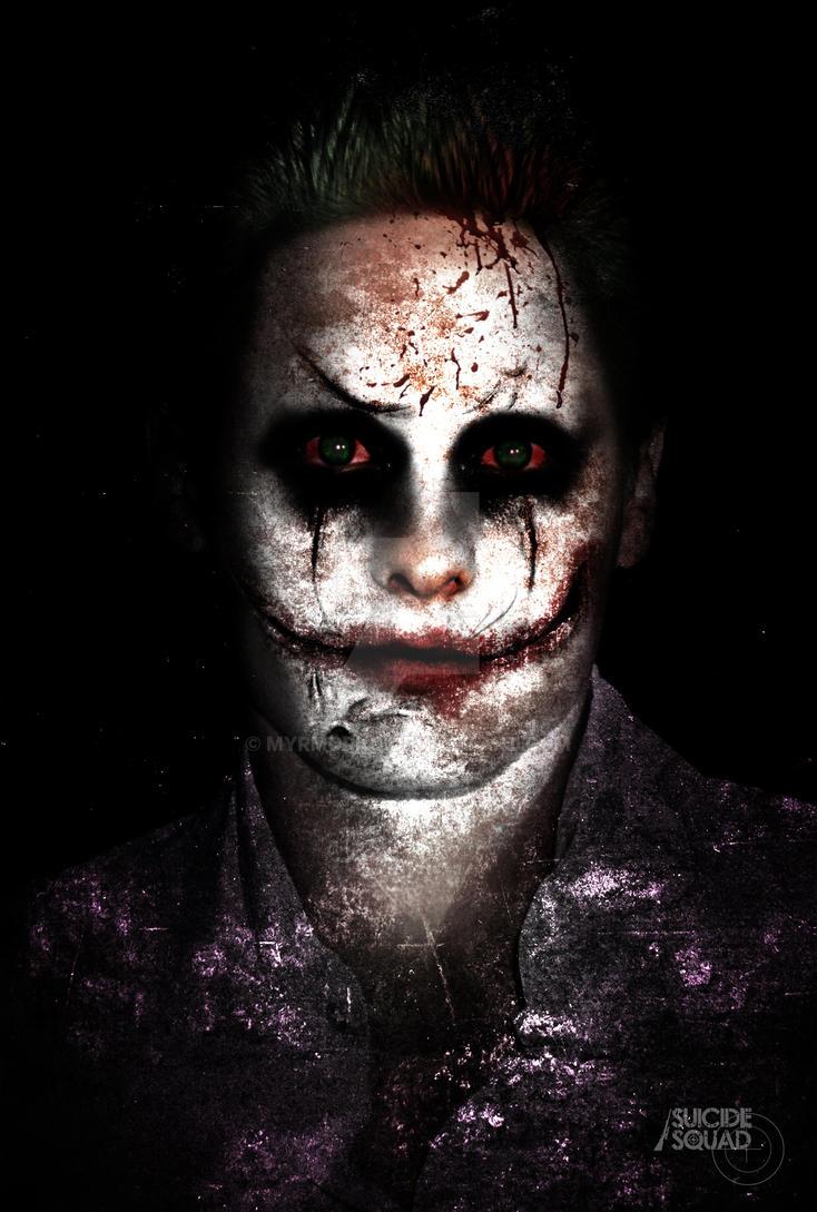 Jared Leto as The Joker by myrmorko