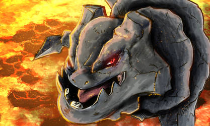 Red Hot Steelix by elginive