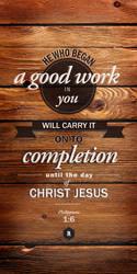 Philippians 1:6 by graphikj