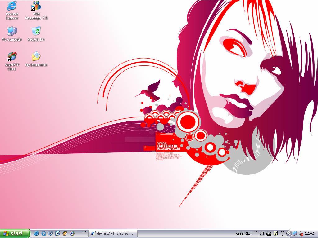 my very own desktop wallpaper by graphikj