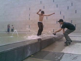 water skateboarding by st3