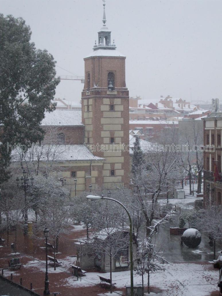 Snow in Madrid, 9-1-2009: 3 by kawano-katsuhito